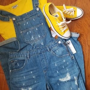 Forever 21 Distressed Overall, NWT